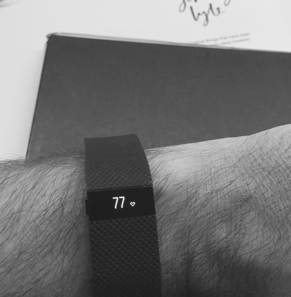 Fitbit Charge HR showing the current Heart rate (1)