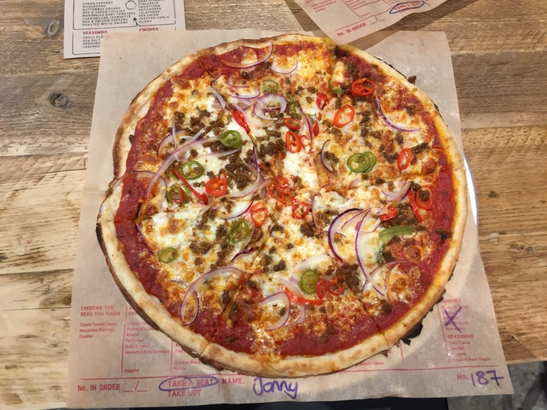 Holy Gucamole Pizza at Inferno Pizza Nottingham