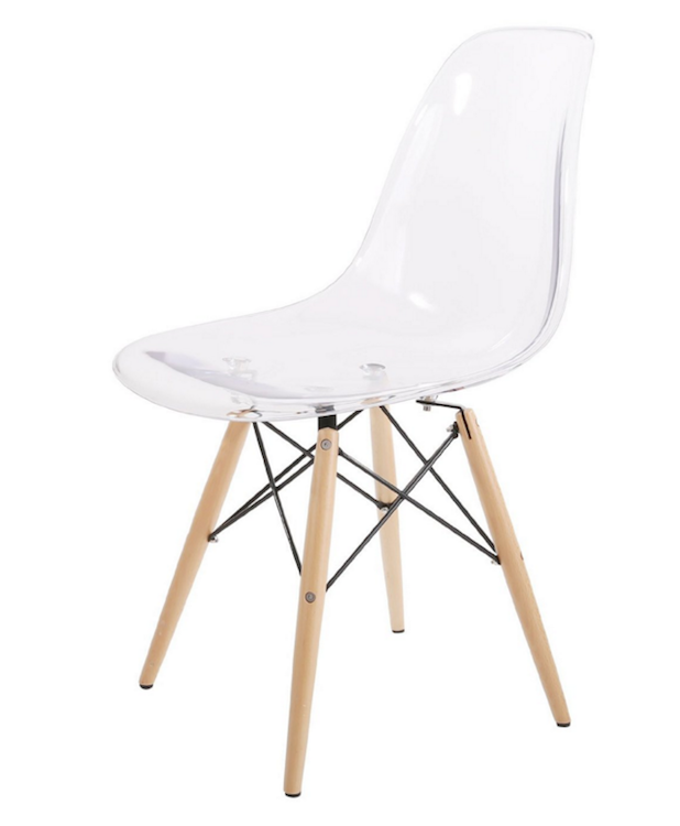 Eames DSW Chairs Rear View Eames Chairs From Amazon Rear 3:4 View