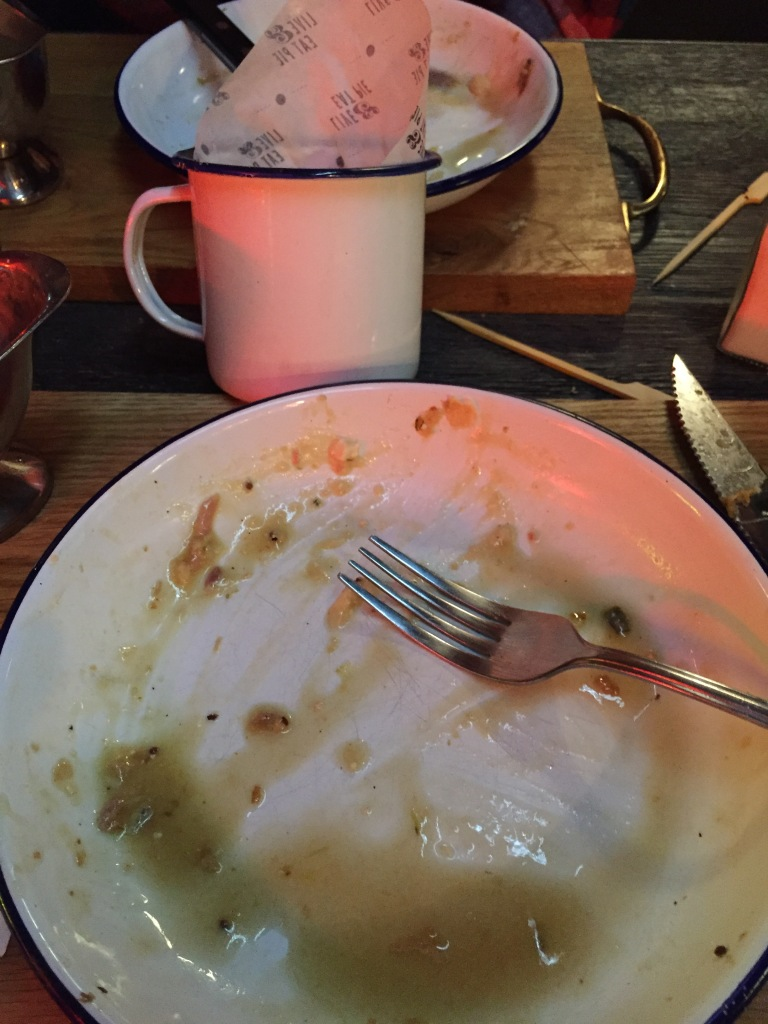 An empty plate at Pieminister